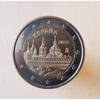 2 евро Испания 2013 Монастырь Эскориал