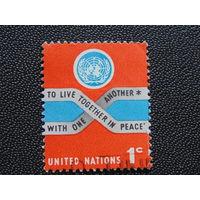 Марка ООН.