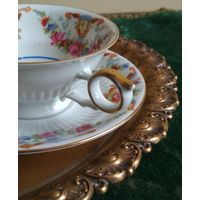 Старинная чашка ( кружка ) + блюдце чайная пара высококачественный фарфор Бавария Bavaria