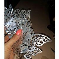 Бабочки 3D.12 штук.Серебро.Золото.