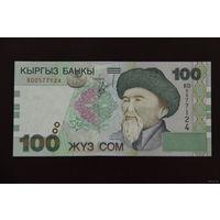 Киргизия 100 сом 2002 года UNC
