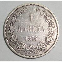 1 марка 1874 S серебро