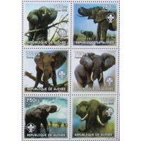 2002 Гвинея Фауна Слоны MNH серия 6 марок \5