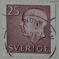 Король Густав VI Адольф. Швеция. Дата выпуска:1962-02-07