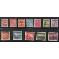 Чили Ландшафты 1938 год полная гашеная серия из 12-ти марок