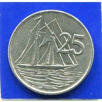 Каймановы острова 25 центов 1990