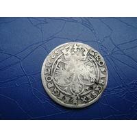 6 грошей (шостак) 1665         (2820)