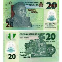 Нигерия  20  найра  2021   UNC  (полимер)  НОВИНКА