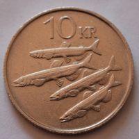 Исландия, 10 крон 1987 г