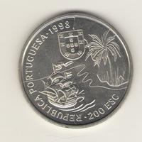 200 эскудо 1998 г. Путешествие Васко да Гама в Индию. Южная Африка: Наталь.