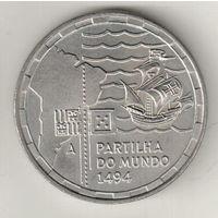 Португалия 200 эскудо 1994 500 лет с момента разделения зон влияния между Португалией и Испанией