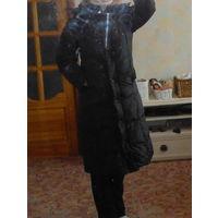 Дешево! Пуховик Пальто длинное теплое черное Немецкий бренд  Hagenson Р-р 46