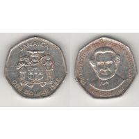 Ямайка km164 1 доллар 1996 год BUSTAMANTE (al)(f14)*