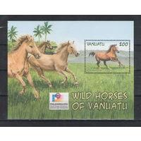 Вануату Дикие лошади 2002 год чистый блок