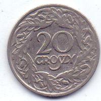 Польша, Вторая Республика. 20 грошей 1923 года.