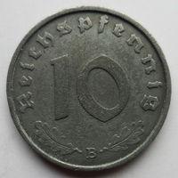 Нацистская Германия 10 рейхспфеннигов 1944 В