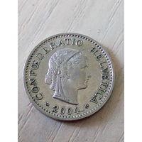 Швейцария 10 раппен 2004г.