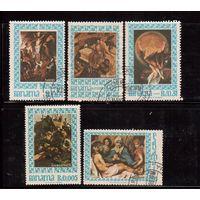 Панама-1967(Мих.966-971) ,  гаш., 5 марок,  Живопись, Религия