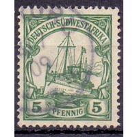 Германия Юго-Западная Африка Wz1 5 пф ГАШ 1906 г