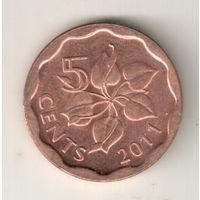 Свазиленд 5 цент 2011