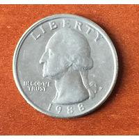 США, 25 центов 1988 P