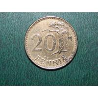 Финляндия 20 пенни 1967 (единственная на ау)