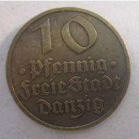 Данциг. 10 пфеннигов 1932.  1-158