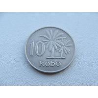 Нигерия.  10 кобо 1973 год  KM#10.1