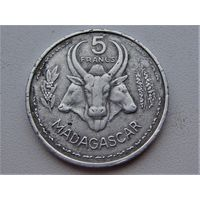 Мадагаскар 5 франков 1953