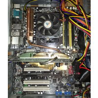 Материнская плата Asus M2N-E с процессором Athlon 3800 и 512 память