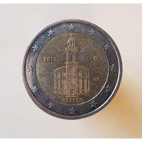 2 евро 2015 Германия Федеральные земли Гессен D