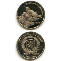 Шетландские острова 1 фунт 2016 г. (Аистоклювый зимородок, Halcyon Capensis, Птицы)
