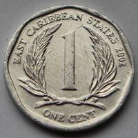 Восточные Карибы, 1 цент 2002 г