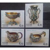 Русское художественное серебро конца XIX - начала XX века, Россия, 2004 год, 4 марки