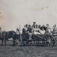 Фото 1943 года .На уборке сенокоса