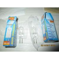 Лампочки прозрачные галогеновые 220В, 20Вт, цоколь G5.3. 2шт. Feron.