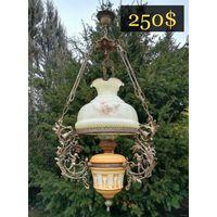 Старинная Сюжетная Люстра с Гномами / Antique chandelier. Середина 20 века, Европа.