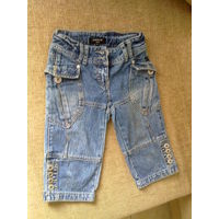 Капри джинсовые на 5-6 лет