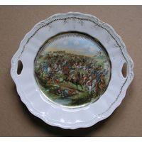 Тарелка декоративная с военным сюжетом Германия начало 20-го века