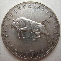 Серебряная медаль (жетон) Евро 5 лет Маастрихтского договора об учреждении валютного Союза стран ЕС (a)