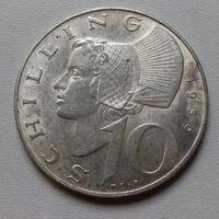 Австрия 10 шиллингов 1959 г.