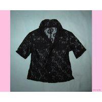 Гипюровая блузка/рубашка на девочку, р.104-110