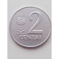 2 цента 1991 г. Литва.