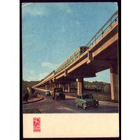 1967 год Киев Мост через Днепр Поезд