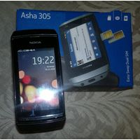 Nokia Asha 305 в заводской упаковке