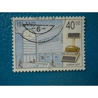 Исландия. 1990 г. Мi-728. Europa. CEPT. Почтовое отделение.