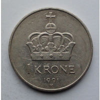 Норвегия 1 крона. 1991