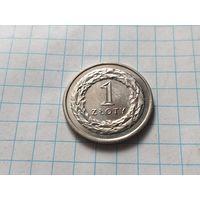 Польша 1 злотый, 2014