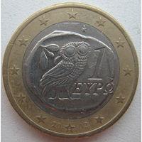 Греция 1 евро 2002 г. (S). Монетный двор Финляндии