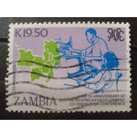 Замбия 1990 Карта стран, участниц конференции Михель-2,6 евро гаш